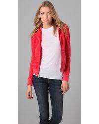Juicy Couture | Red Original Zip Hoodie | Lyst