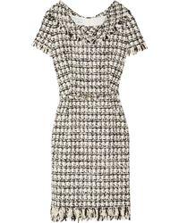 Oscar de la Renta | Black Bouclé Tweed Dress | Lyst