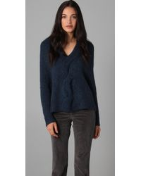 Theory Blue Vivini Brushed Curls Sweater