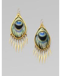 Alexis Bittar | Metallic Peacock Fringe Earrings/gold | Lyst