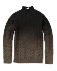 Balenciaga | Black Ombré Aran Knit Sweater for Men | Lyst