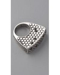 Belle Noel | Metallic Honey Hexagon Ring | Lyst