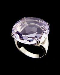 H Stern Purple Cobblestone Amethyst Ring