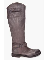 Rag & Bone | Gray Abbey Riding Boots | Lyst