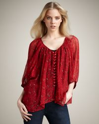 Winter Kate | Red Tiger Lily Blouse, Crimson | Lyst