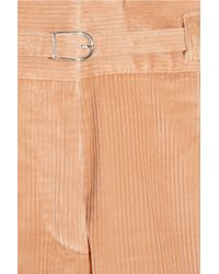 A.P.C. - Orange Belted Corduroy Shorts - Lyst