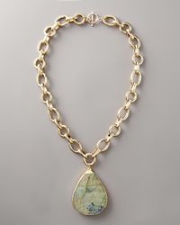 Devon Leigh | Metallic Labradorite Teardrop Necklace | Lyst