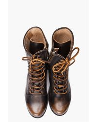 DSquared² | Brown Ankle Police Boots for Men | Lyst