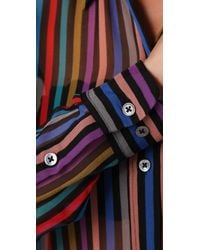 Equipment - Multicolor Daddy Laser Stripe Blouse - Lyst