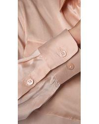 Equipment - Pink Signature Satin Blouse - Lyst