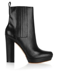 Kors by Michael Kors Black Benet Leather Ankle Boots