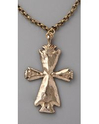 Low Luv by Erin Wasson - Metallic Arrowhead Cross Necklace - Lyst