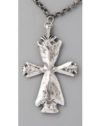 Low Luv by Erin Wasson - Metallic Arrowhead Cross Necklace - Lyst