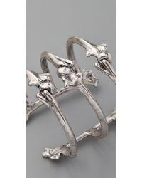 Low Luv by Erin Wasson - Metallic Triple Bone Cuff - Lyst