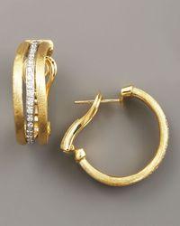 Marco Bicego - Metallic Jaipur Gold & Diamond Hoop Earrings - Lyst