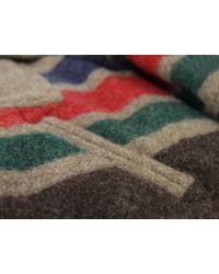 Monitaly | Riders Brown Stripe Wool Coat for Men | Lyst