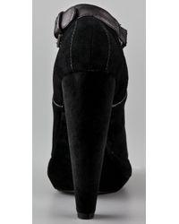 Plomo | Black Julieta Suede Cutout Booties | Lyst