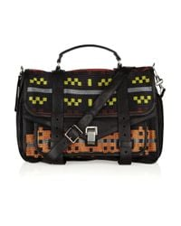 Proenza Schouler | Multicolor Ps1 Large Leather and Jacquard Satchel | Lyst