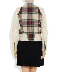Rag & Bone Multicolor Sackville Leather-trimmed Wool Biker Jacket