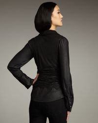 Royal Underground - Black Faux-leather Zip Top - Lyst