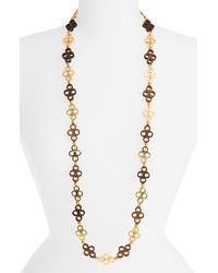 Tory Burch | Metallic Clover Link Necklace | Lyst