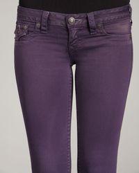 True Religion   Blue Misty Eggplant Legging Jeans   Lyst