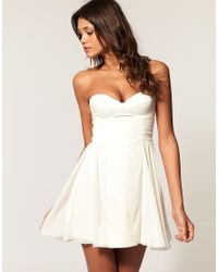 ASOS Collection   Natural Asos Bandeau Skater Dress with Sweetheart Neckline   Lyst
