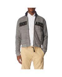 DSquared² Gray Dsquared Melange Cotton Sweatshirt for men