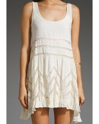 Free People | Natural Voile Lace Slip | Lyst