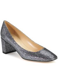 kate spade new york | Metallic Desiree Starlight Low-heel Pump | Lyst