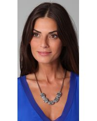 Rachel Leigh - Gray Adorned Beaded Layer Necklace - Lyst
