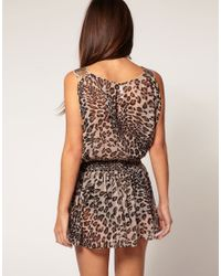 ASOS Collection - Multicolor Asos Embellished Shoulder Animal Print Beach Cover Up - Lyst