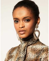 ASOS Collection Metallic Limited Edition Triple Hammered Hoop Earrings