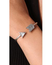 House of Harlow 1960 Metallic Pave Arrow Cuff