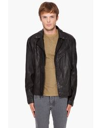 John Varvatos - Black Ramones Leather Biker Jacket for Men - Lyst