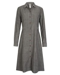 MHL by Margaret Howell | Gray Grey Tuck-back Shirt Dress | Lyst