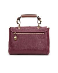 Mulberry | Purple Small Polly Push Lock: Burgundy | Lyst