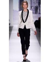 Tibi Natural Leather-lapel Tuxedo Jacket
