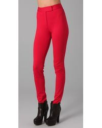 Viktor & Rolf | Red High Waisted Skinny Pants | Lyst