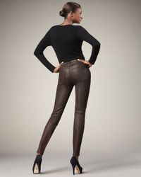 7 For All Mankind - Metallic Skinny Gunmetal Ombre Jeans - Lyst