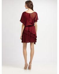 Alice + Olivia | Purple Rory Butterfly Wrap Dress | Lyst