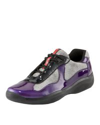 Prada | Purple Patent-leather Sneaker for Men | Lyst
