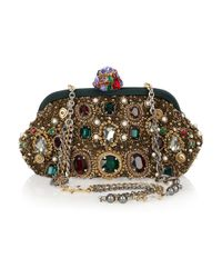 Dolce & Gabbana | Multicolor Jewel And Pearl-Embellished Clutch | Lyst