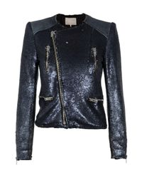 IRO | Metallic Cuzia Sequin Jacket | Lyst
