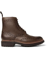 Foot The Coacher | Brown Fred Leather Brogue Boots for Men | Lyst
