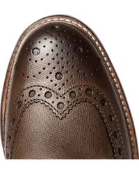 Foot The Coacher - Brown Fred Leather Brogue Boots for Men - Lyst