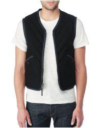 Rag & Bone - Black Ranger Vest for Men - Lyst