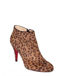 Christian Louboutin | Multicolor 85mm Belle Printed Ponyskin Boots | Lyst