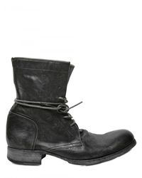 Officine Creative | Black Horse Leather Lace Up Low Boots for Men | Lyst
