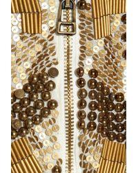 Robert Rodriguez - Metallic Embellished Cropped Silk Jacket - Lyst